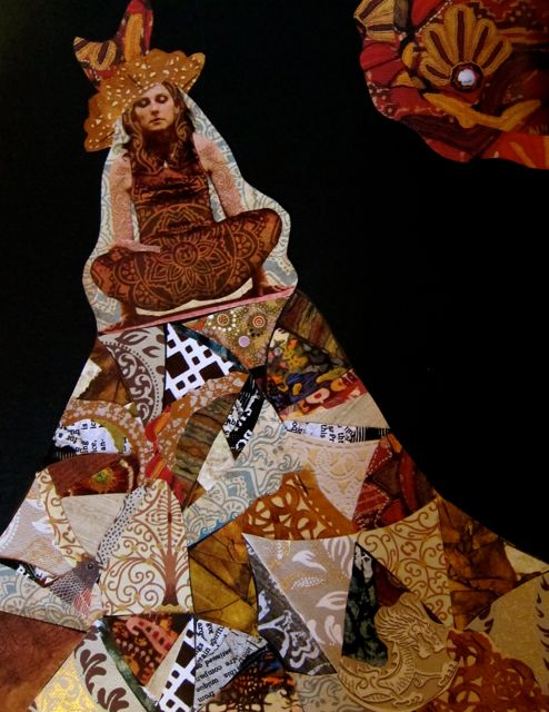Yogic Flying on a Crazy Quilt, 2012