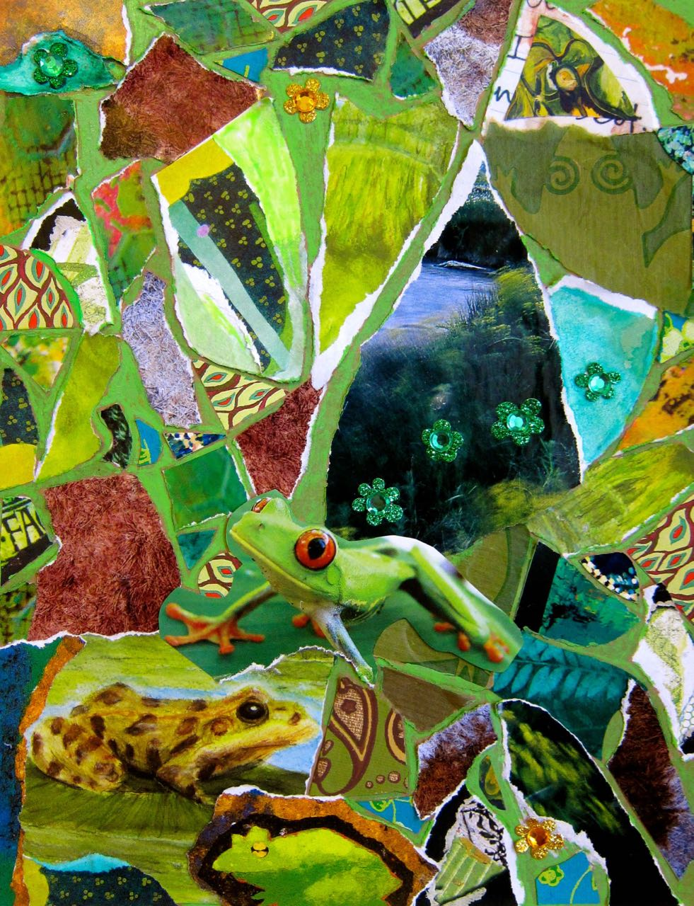 Frogs' Mosaic Green Room, Catherine Raine 2013