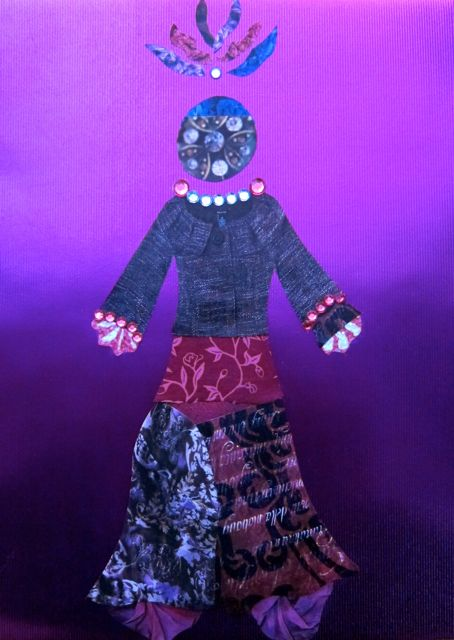 Purple Paper Doll, Catherine Raine 2013
