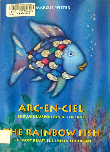 Note: This book and the examples of multilingual books which follow are actually from the first floor (childrens). I find that the children's books usually have more interesting covers.