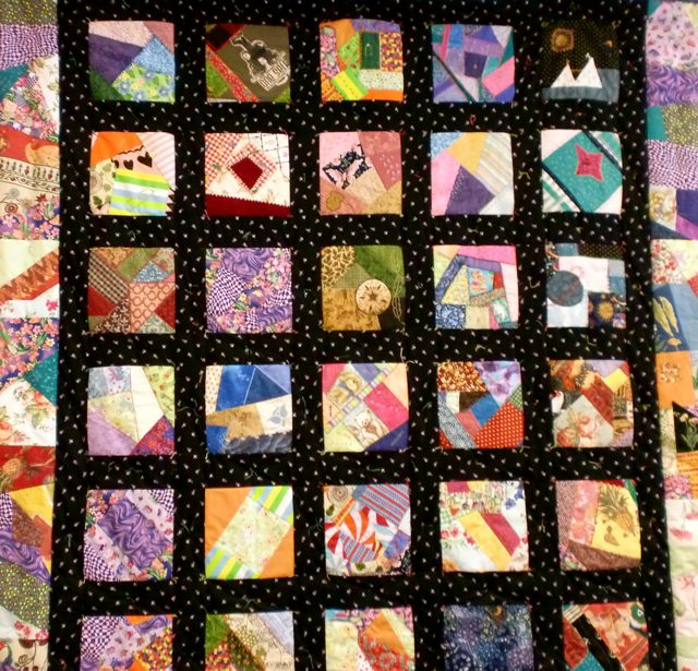 Victorian Crazy Quilt created by volunteers under the guidance of textile artist Sandra Reford in 2010 (photo taken in 2010)