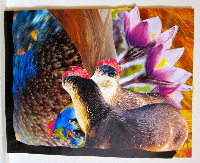 Flower-Hatted Otters, Catherine Raine 2011