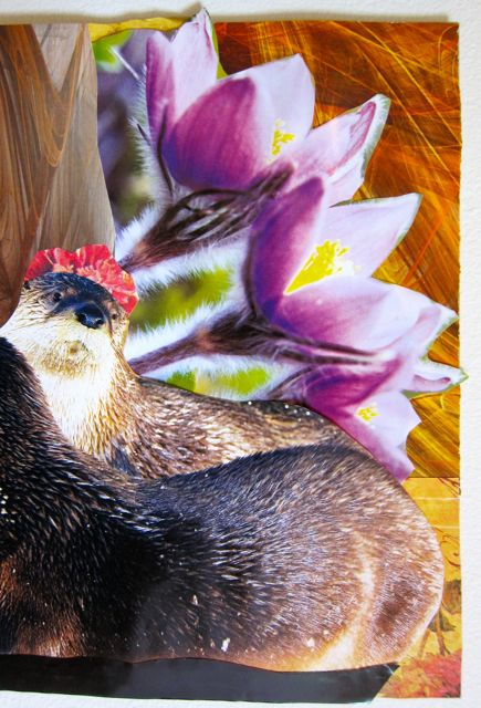 Flower Hatted Otters, Catherine Raine 2011