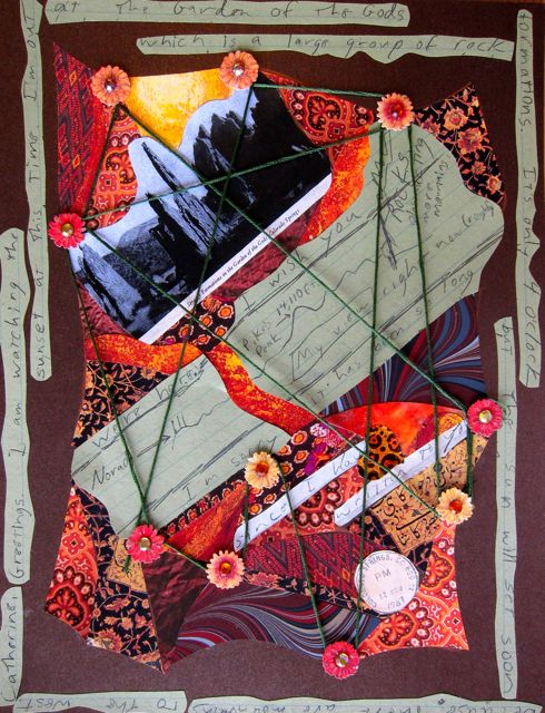 In the Garden of the Gods, Collage by Catherine Raine 2013