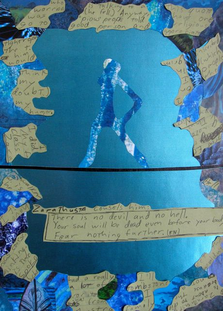 Tightrope Walker, Collage by Catherine Raine 2013