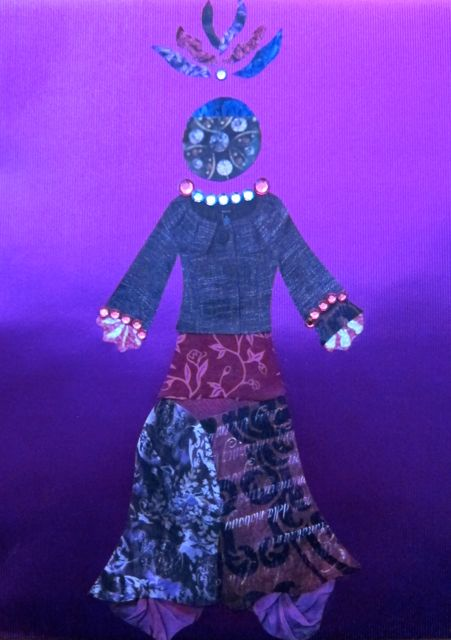 Purple Paper Doll by Catherine Raine, 2013