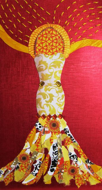 """Corn Goddess"" Collage, Catherine Raine, 2013"