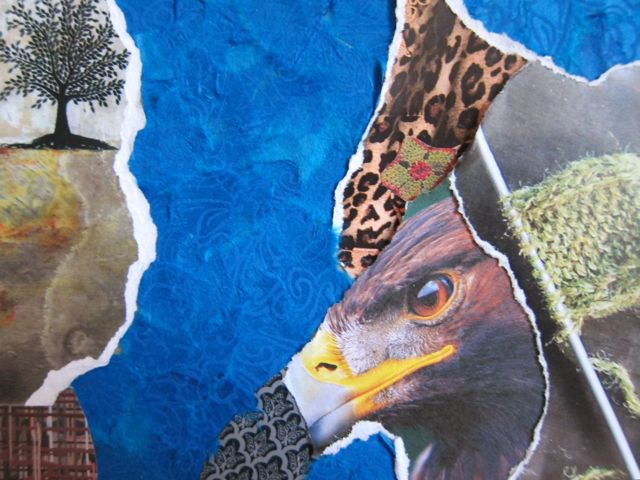 The Knitted Eagle, Collage by Catherine Raine, 2013
