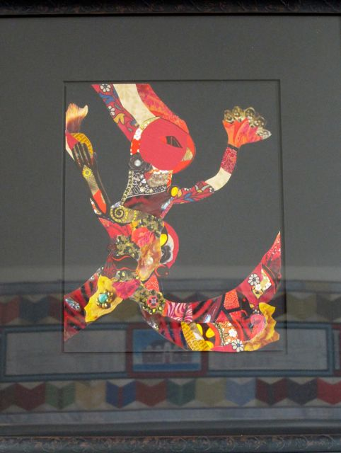 Dancing Bird Woman, Collage by Catherine Raine, 2012