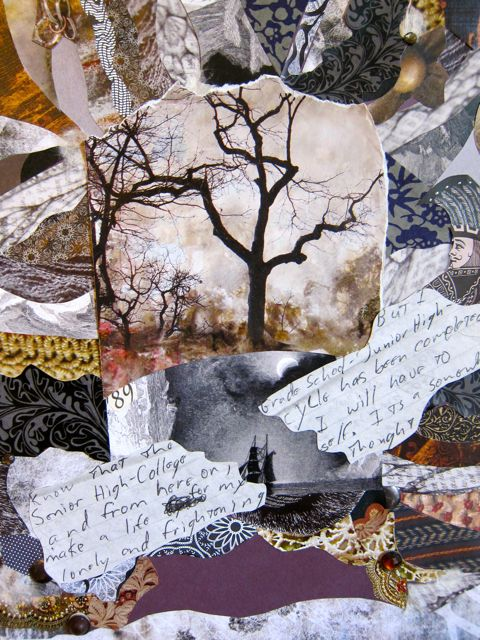 Lonely and Frightening Thought, Collage by Catherine Raine 2013