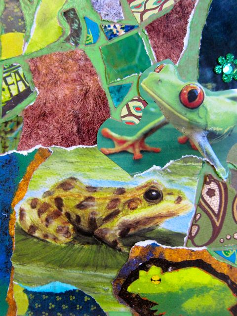 Frogs' Mosaic Green Room, Collage by Catherine Raine, 2013