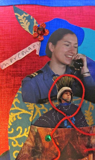 Mercenary or Talk Show Hostess, Collage by Catherine Raine 2014