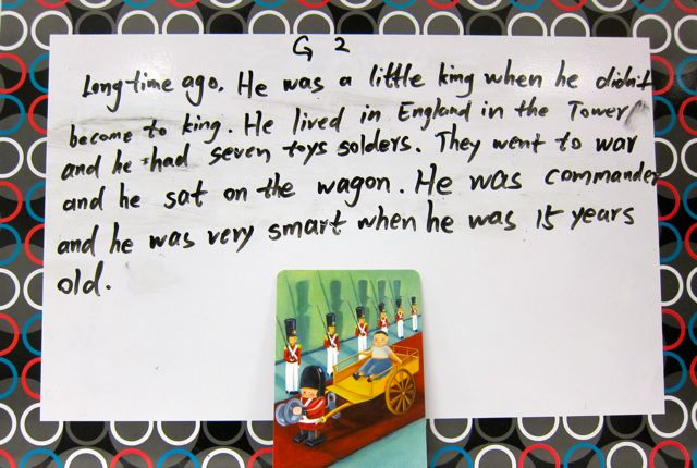 Group Two's Story with Dixit card illustrated by Marie Cardouat