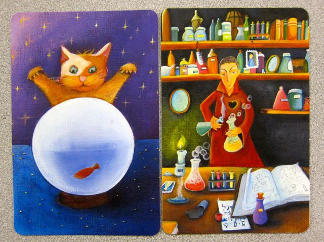 Dixit cards illustrated by Marie Cardouat