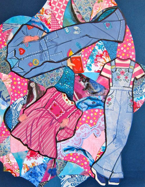 Peace Out Pink and Denim, Catherine Raine, 2014
