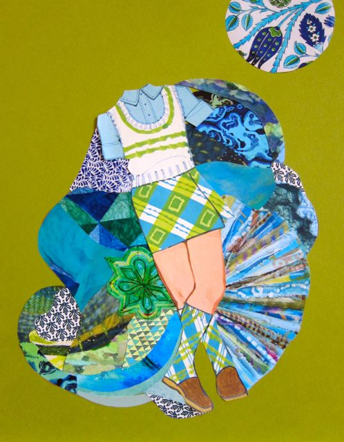 Blue-Green Twirl, Catherine Raine  2014