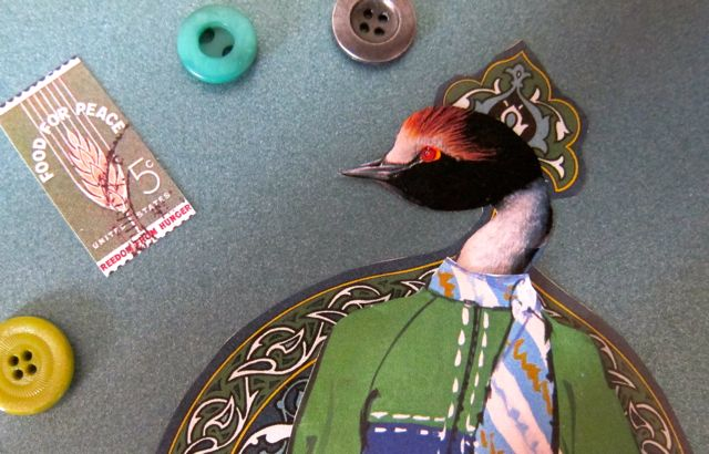 Beaded Grebe Paper Doll, Catherine Raine 2014