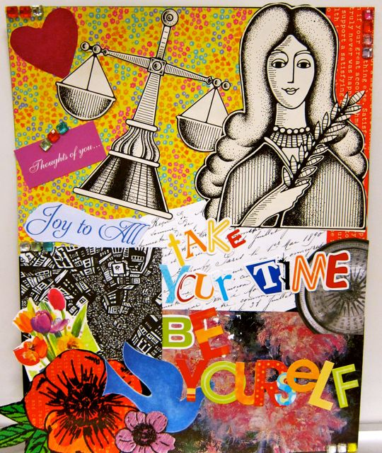 Giovanna's collage (Be Yourself)