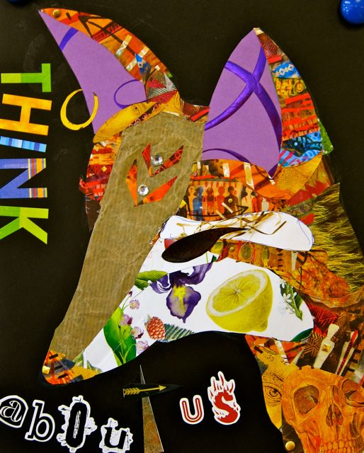 Chris' collage: Think About Us