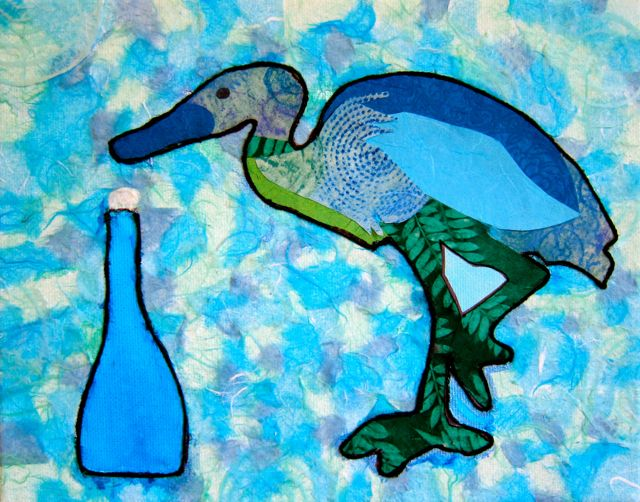 Denise's Heron, Catherine Raine 2015