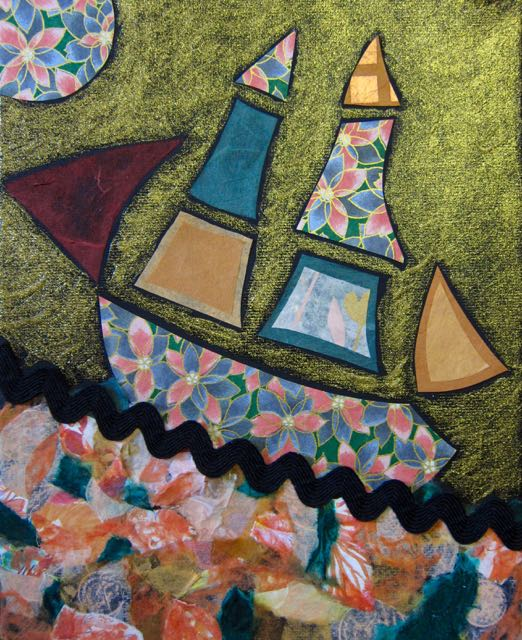 Ship on the Apricot Ocean, Catherine Raine 2016