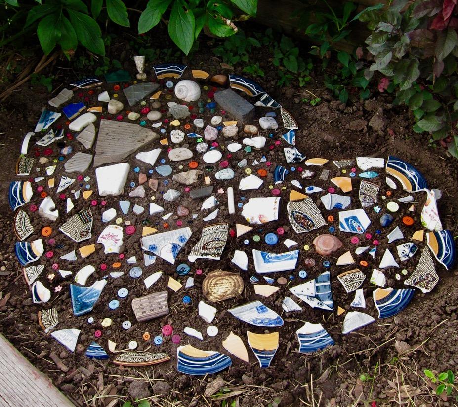Heart Mosaic in the Garden – Breakfast in Scarborough
